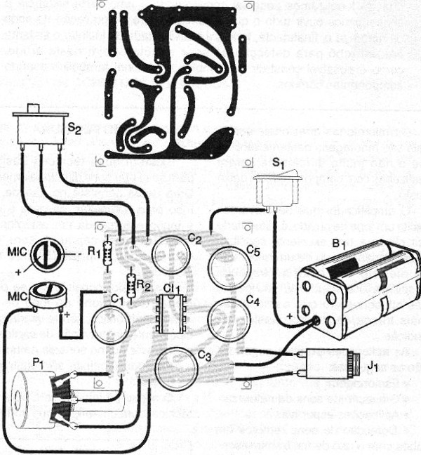 Figure 3 - Printed circuit board for the assembly.
