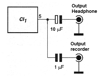 Figure 6 - Adding a parallel output for recordings.