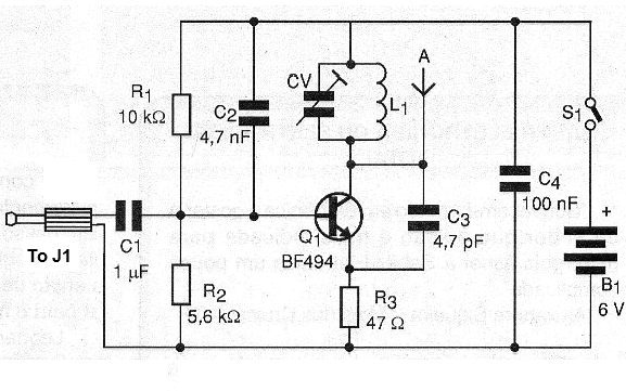 Figure 7 - FM transmitter to transmit signals wirelessly, remotely.