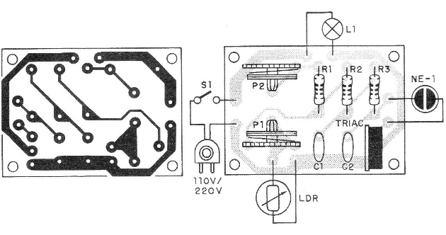 Figure 3 - Printed circuit board for mounting