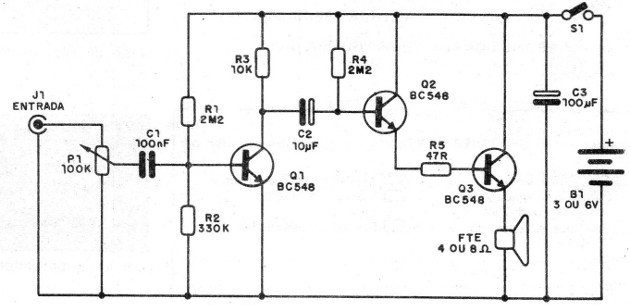 Figure 1 - Diagram of the amplifier