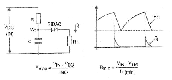 Figure 8 - Relaxation oscillator with SIDAC