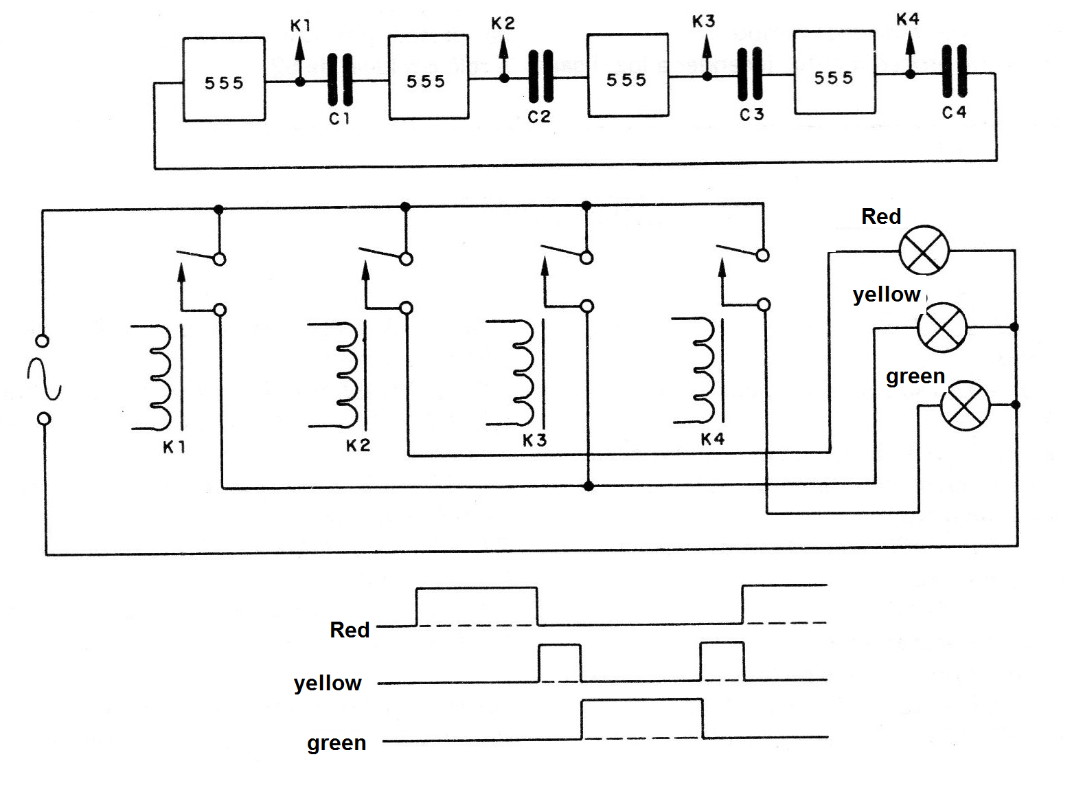 Sequential Automation Device Mec107 Traffic Light Circuit Pictures Figure 5 With Stages