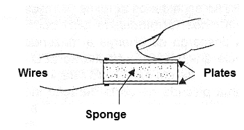 Figure 8 - Electrode with a conductive sponge