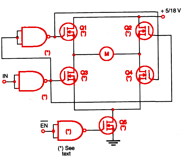 Figure 1    Full H-bridge with enable input.