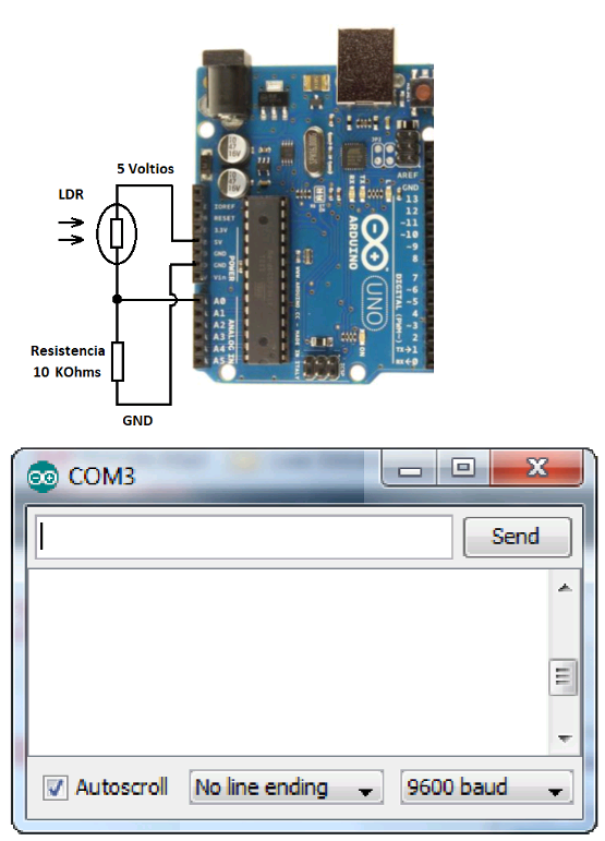 Figure 27- The circuit to test the EEPROM memory on the Arduino Uno board