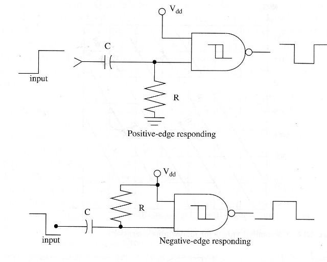 Figure 2 – monostable circuits with the 4093