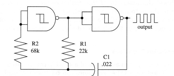 Figure 2 – Improved two-gate oscillator
