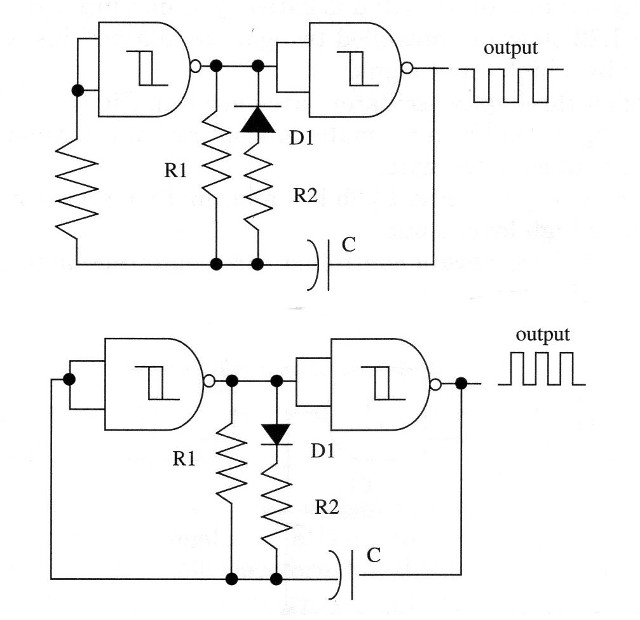 Figure 3 – Diodes can be added to a non-symetrical output