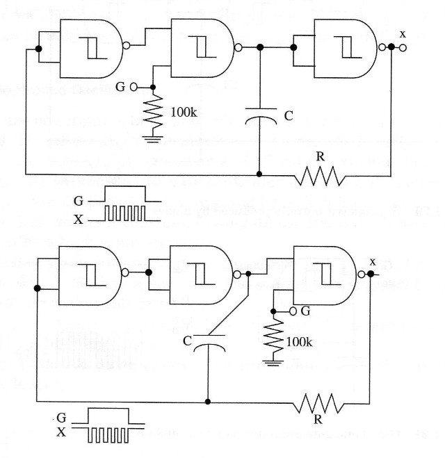 Figure 8 – Three-gate controlled oscillator using the 4093 IC