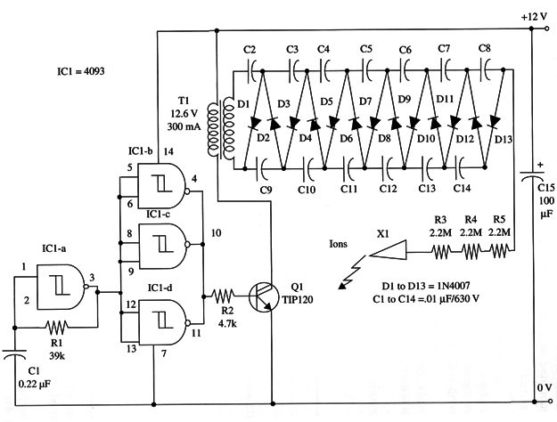 Negative Ion Generator (BM005) on negative ion generator evaporator cooler, jacob's ladder schematic, negative to positive voltage converter circuit, time delay schematic, negative ion generators diy,