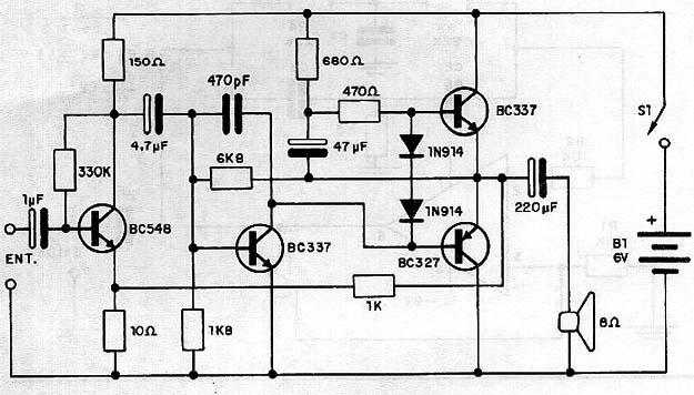 0 5 W Transistor Audio Amplifier (CB233E)
