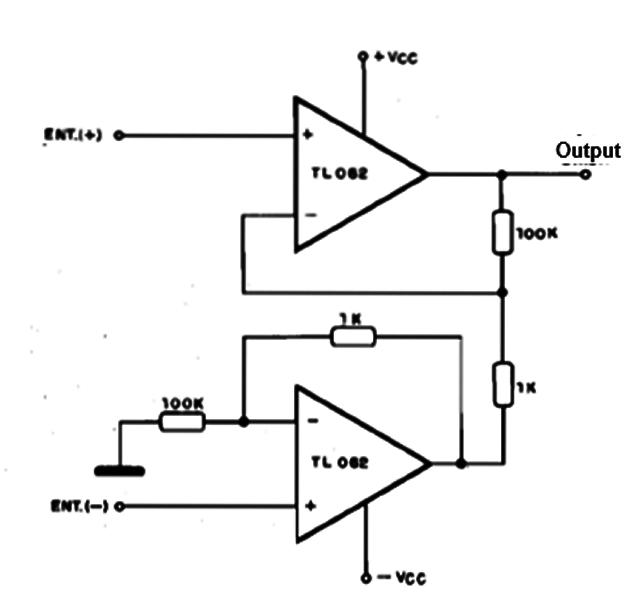 instrumentation amplifier tl082  cb901e